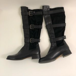 Cole Haan Air Avalon Black Leather Knee boots 6